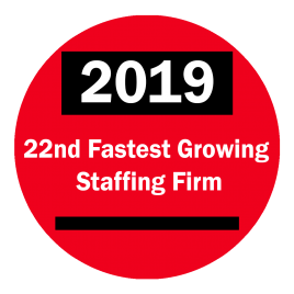 22nd Fastest Growing Staffing Firm
