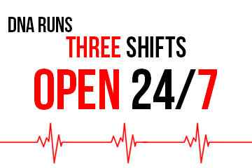 Three Shifts Open 24/7