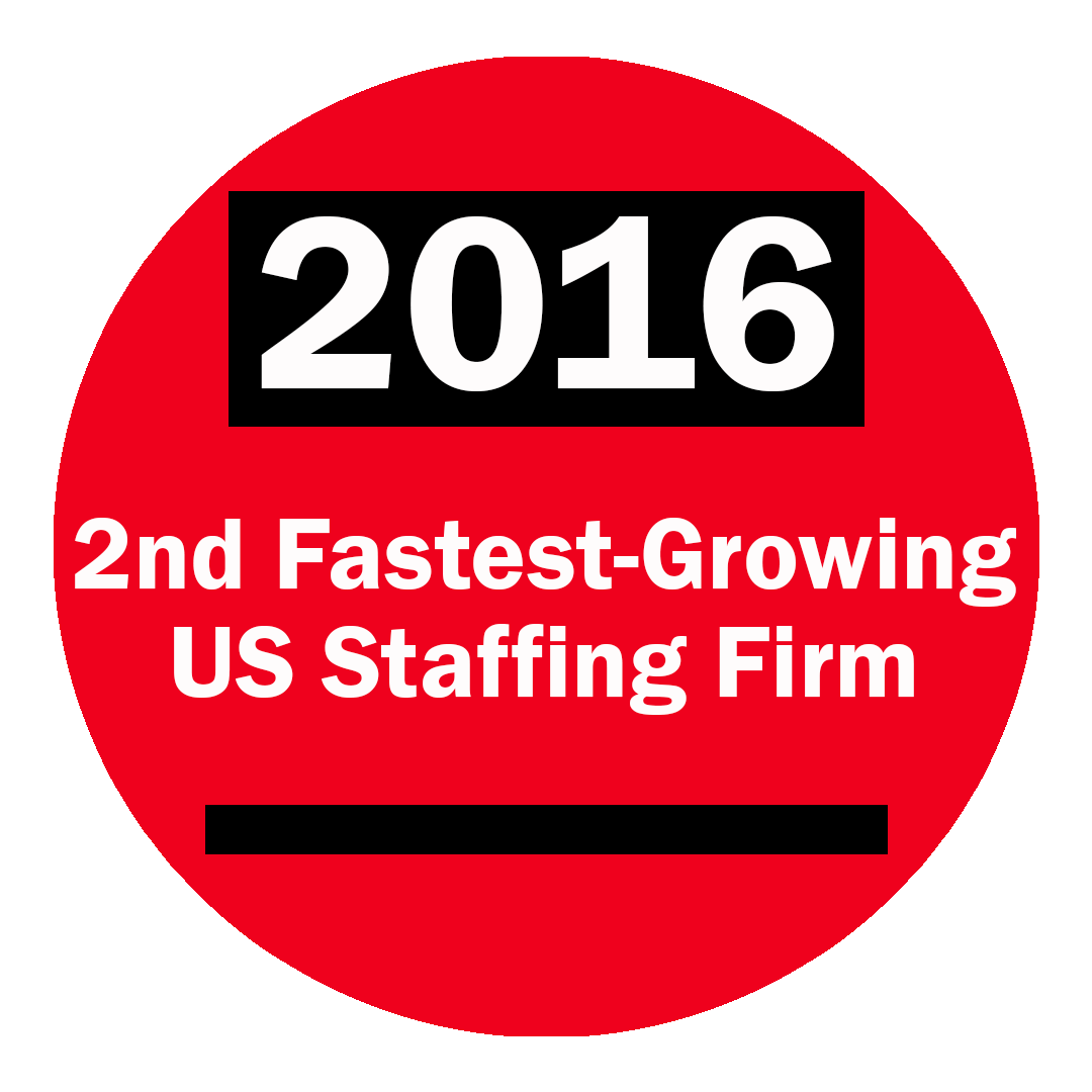 2016 2nd Fastest Growing Staffing Firm