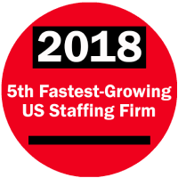 2018 5th Fastest Growing Staffing Firm