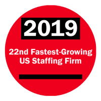 2019 22nd Fastest Growing Staffing Firm